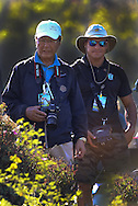 29 MAR15 Crack Korean photographer WOO LEE with Don Morelli at Sunday's Final Round of The KIA Classic at Aviara Golf Club in LaCosta, California. (photo credit : kenneth e. dennis/kendennisphoto.com)