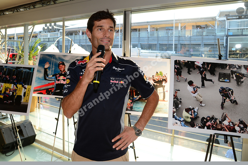 Mark Webber at gis farewell to Europe party at the Red Bull Energy Station before 2013 Italian Grand Prix in Monza. Photo: Grand Prix Photo