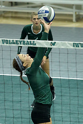 23 September 2017:  Kira Jackson during an NCAA womens division 3 Volleyball match between the Tufts Jumbos and the Illinois Wesleyan Titans in Shirk Center, Bloomington IL