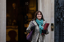 © Licensed to London News Pictures. 09/01/2018. London, UK. Minister of State at Department for Business, Energy and Industrial Strategy Claire Perry arrives on Downing Street for the first meeting of the Cabinet after Prime Minister Theresa May's reshuffle. Photo credit: Rob Pinney/LNP