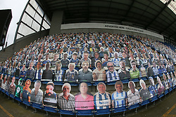 Cardboard cut out fans seen in the stands - Mandatory by-line: Arron Gent/JMP - 03/10/2020 - FOOTBALL - JobServe Community Stadium - Colchester, England - Colchester United v Oldham Athletic - Sky Bet League Two