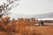 Traditional Tipi in Autumn (Fall), Utah, United States of America