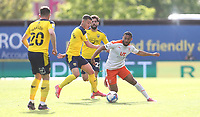 Blackpool's Keshi Anderson and Oxford United's Cameron Brannagan<br /> <br /> Photographer Rob Newell/CameraSport<br /> <br /> Sky Bet League One Play-Off Semi-Final 1st Leg - Oxford United v Blackpool - Tuesday 18th May 2021 - Kassam Stadium - Oxford<br /> <br /> World Copyright © 2021 CameraSport. All rights reserved. 43 Linden Ave. Countesthorpe. Leicester. England. LE8 5PG - Tel: +44 (0) 116 277 4147 - admin@camerasport.com - www.camerasport.com