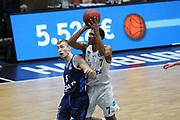 Basketball: Deutschland, 1. Bundesliga, Hamburg Towers -  Alba Berlin, Hamburg, 23.03.2021<br /> Niels Giffey (Alba, l.) - Kameron Taylor (Towers)<br /> © Torsten Helmke