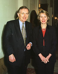 MR PETER BOTTOMLEY MP and his wife VIRGINIA BOTTOMLEY MP at a reception in London on 3rd March 1999.MOZ 6