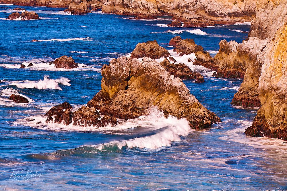 Rocky coastline on the Big Sur coast, Big Sur, California