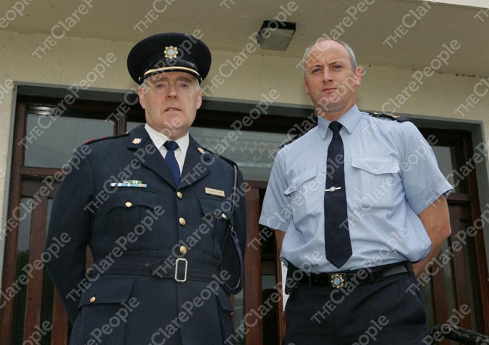 Chief Superintendent Liam Quinn with Community Garda Albert Hardiman of Ennis Garda Station.<br />Picture: Don Moloney / Press 22