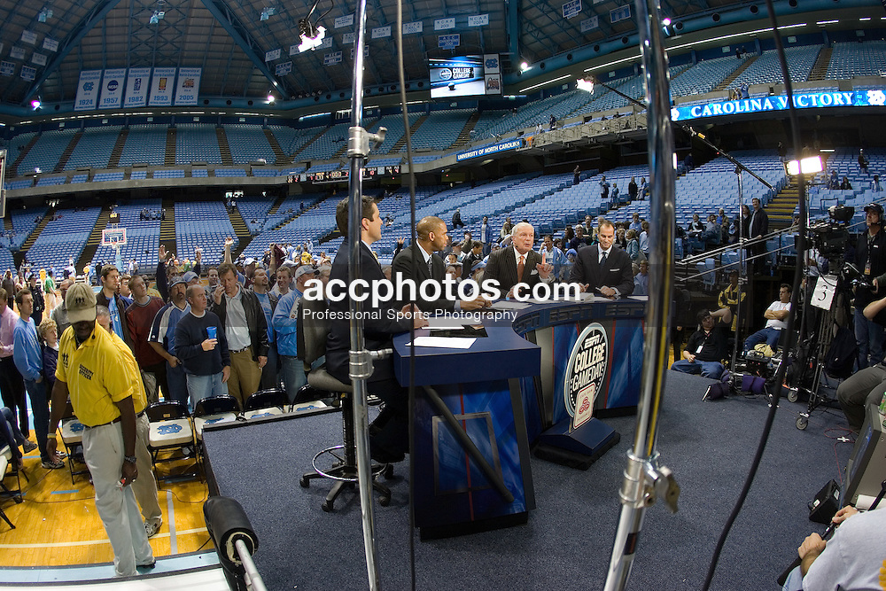 20 January 2007: ESPN Game Day crew during a North Carolina Tar Heels 77-61 win over the Georgia Tech Yellow Jackets, in the Dean E. Smith Center in Chapel Hill, NC.