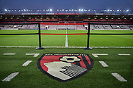 AFC Bournemouth badge logo stadium view during the Premier League match between Bournemouth and Chelsea at the Vitality Stadium, Bournemouth, England on 30 January 2019.