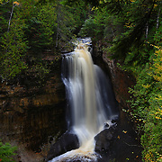 """""""Miner's Falls in October""""<br /> <br /> Beautiful Miner's Falls located in Pictured Rocks National Lake Shore. One of many waterfalls near Munising Michigan in the Upper Peninsula!!<br /> <br /> Waterfalls by Rachel Cohen"""