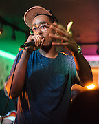 WASHINGTON, DC - September 16th, 2013 - Rapper Oddisee, born in Washington, D.C. and raised in Price George's county, performs at LIV in Washington, D.C. Oddisee has two new releases planned for this year, an instrumental album and a mix tape. (Photo by Kyle Gustafson / For The Washington Post)