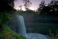 Minnehaha Falls at Dusk, Minneapolis, Minnesota