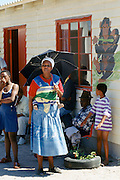 Families in the Alexandra Township, Johannesburg, South Africa