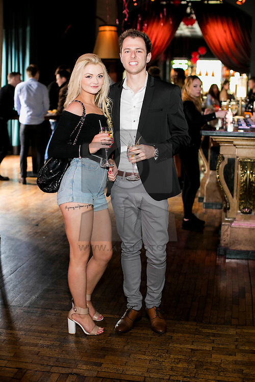 Repro Free: 21/05/2016  Becca Furlong and Sam Agar pictured enjoyed a Belvedere Spritz at Dublin's second LOVE BRUNCH, which was held in The Odeon Dublin.  On the day, guests enjoyed music, antics and a selection of delicious Belvedere Spritz cocktails. Picture Andres Poveda