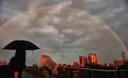 BEIJING, CHINA - MAY 23: (CHINA OUT) <br /> <br /> Double rainbow appears on sky after an evening rain on May 23, 2016 in Beijing, China. <br /> ©Exclusivepix Media