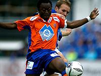 Fotball<br /> Adeccoligaen 2006 <br /> 09.09.2006<br /> Hødd v aalesund 1-1<br /> Foto: Richard Brevik - Digitalsport<br /> <br /> Kabba Samura - aalesund