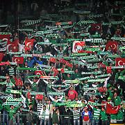 Bursaspor's supporters during their Turkish soccer superleague match Bursaspor between Trabzonspor at Ataturk Stadium in Bursa Turkey on Saturday, 22 October 2011. Photo by TURKPIX