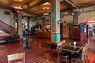 Decorative lobby at Hotel Congress in downtown Tucson, Arizona, USA