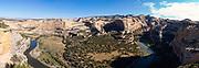 Morning at the Wagon Wheel  Overlook along the Yampa River, Dinosaur National Monument, Colorado, USA.