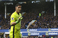 Everton Goalkeeper Joel Robles looks on. Premier league match, Everton v Hull city at Goodison Park in Liverpool, Merseyside on Saturday 18th March 2017.<br /> pic by Chris Stading, Andrew Orchard sports photography.