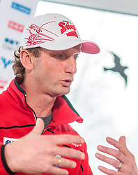02.01.2018, Alpenhotel Karwendel, Leutasch, AUT, FIS Weltcup Ski Sprung, Vierschanzentournee, Innsbruck, Pressekonferenz OeSV, im Bild Cheftrainer Heinz Kuttin (AUT) // Headcoach Heinz Kuttin of Austria during a Pressconference of the Austrian Skijumping Team before the 3rd Stage Insbruck of the Four Hills Tournament of FIS Ski Jumping World Cup at Leutasch, Austria on 2018/01/02. EXPA Pictures © 2018, PhotoCredit: EXPA/ JFK