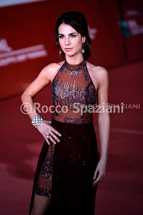 """ROME, ITALY - OCTOBER 18:  Michelle Carpente, attends the """"Pavarotti"""" red carpet during the 14th Rome Film Festival on October 18, 2019 in Rome, Italy."""