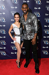 Carlotta Edwards (left) and Richard Blackwood attending the Dancing on Ice launch held at the Natural History Museum, London. Photo credit should read: Doug Peters/EMPICS