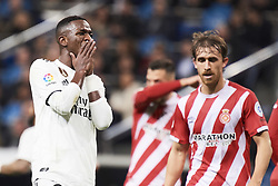January 24, 2019 - Madrid, Spain - Vinicius Junior (forward; Real Madrid) in action during Copa del Rey, Quarter Final match between Real Madrid and Girona FC at Santiago Bernabeu Stadium on January 24, 2019 in Madrid, Spain (Credit Image: © Jack Abuin/ZUMA Wire)