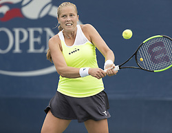 August 31, 2017 - New York, New York, United States - Shelby Rogers of USA returns ball during match against Daria Gavrilova of Australia at US Open Championships at Billie Jean King National Tennis Center  (Credit Image: © Lev Radin/Pacific Press via ZUMA Wire)