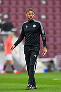 Assistant manager of Celtic FC, Gavin Strachan during the Cinch SPFL Premiership match between Heart of Midlothian FC and Celtic FC at Tynecastle Park, Edinburgh, Scotland on 31 July 2021.