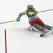 Winter Olympics, Vancouver, 2010.Bojan Kosic, Hungary, in action during the Alpine Skiing, Men's Slalom at Whistler Creekside, Whistler, during the Vancouver Winter Olympics. 27th February 2010. Photo Tim Clayton