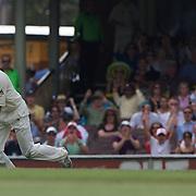 Michael Hussey  celebrates after dismissing Misbah-ul-Haq during the Australia V Pakistan 2nd Cricket Test match at the Sydney Cricket Ground, Sydney, Australia, 6 January 2010. Photo Tim Clayton
