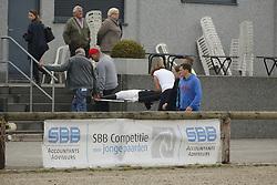 Injury<br /> SBB Competitie Jonge Paarden - Nationaal Kampioenschap - Kieldrecht 2014<br /> © Dirk Caremans