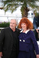 Pierre Arditi, Sabine Azema,  at the Vous N'Avez Encore Rien Vu photocall at the 65th Cannes Film Festival France. Monday 21st May 2012 in Cannes Film Festival, France.