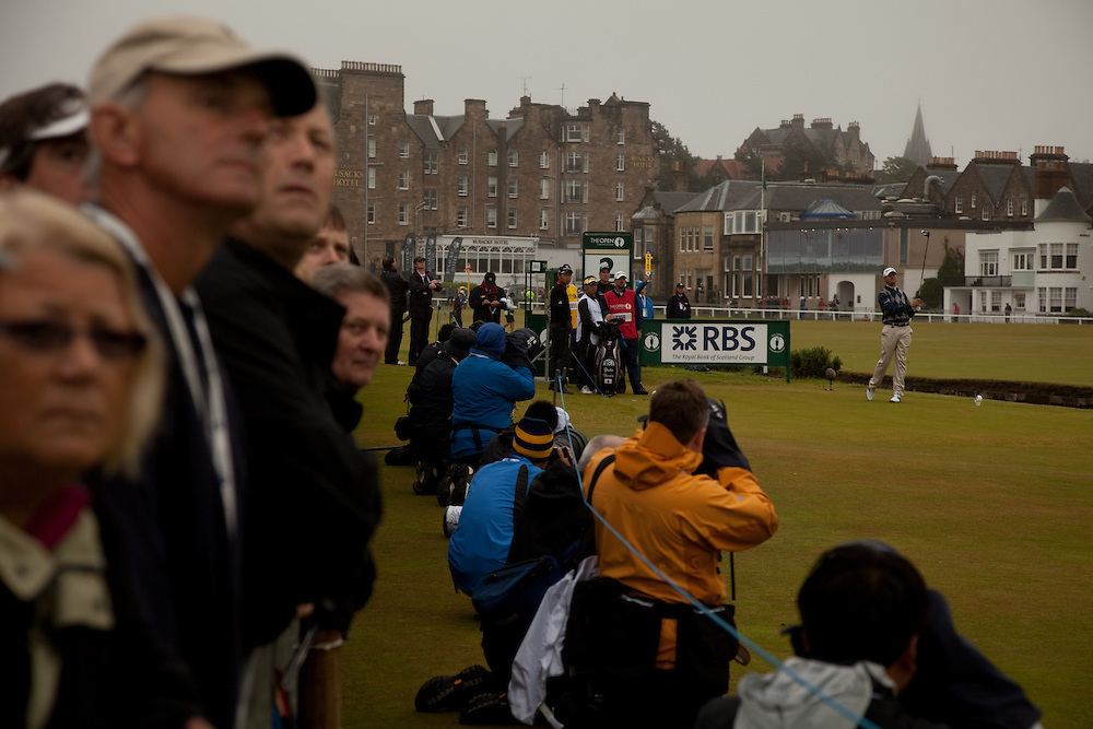 ST. ANDREWS, SCOTLAND - JULY 15: Sean O'Hair plays a shot during the first round of the Open Championship at the Old Course on July 15 2010 in St. Andrews, Scotland. (Photo by Darren Carroll) *** Local Caption *** Sean O'Hair