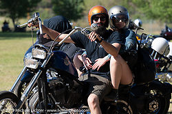 Heading home after the Born-Free Vintage Motorcycle show at Oak Canyon Ranch, Silverado, CA, USA. Sunday, June 23, 2019. Photography ©2019 Michael Lichter.