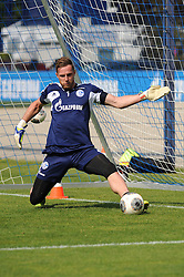24.04.2014, Veltins Arena, Gelsenkirchen, GER, 1. FBL, Training Schalke 04, im Bild Torhueter Ralf Faehrmann ( Schalke 04 ) beim Torwarttraining. // during a Trainingsession of German Bundesliga Club Schalke 04 at the Veltins Arena in Gelsenkirchen, Germany on 2014/04/24. EXPA Pictures © 2014, PhotoCredit: EXPA/ Eibner-Pressefoto/ Thienel<br /> <br /> *****ATTENTION - OUT of GER*****