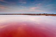 Atanasovsko lake at sunset