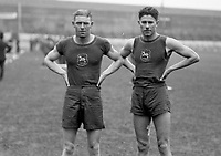 H889<br /> Aonach Tailteann Athletics - Croke Park. 1928. S.J.M. Atkinson and J. Viljean South Africa (Part of the Independent Newspapers Ireland/NLI Collection)