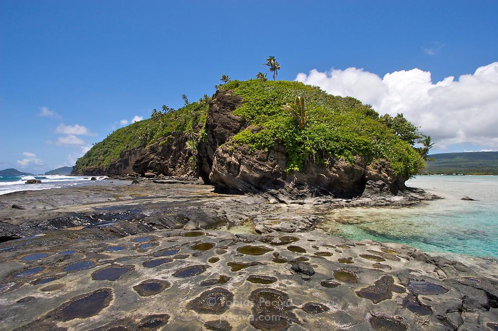 Side view of Namua Island, Western Samoa.