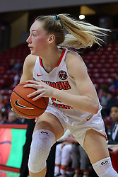 29 January 2017: Millie Stevens during an College Missouri Valley Conference Women's Basketball game between Illinois State University Redbirds the Salukis of Southern Illinois at Redbird Arena in Normal Illinois.