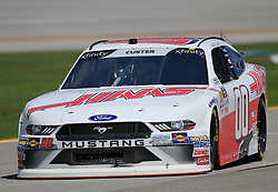 April 27, 2018 - Talladega, AL, U.S. - TALLADEGA, AL - APRIL 27:  Cole Custer, Stewart-Haas Racing, Ford Mustang Haas Automation during practice for the NASCAR Xfinity Series Sparks 300 race on April 27, 2018, at the Talladega Superspeedway in Talladega, AL.  (Photo by David John Griffin/Icon Sportswire) (Credit Image: © David J. Griffin/Icon SMI via ZUMA Press)