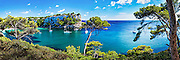 Cala Galdana panorama on Menorca, Balearic Islands, Spain