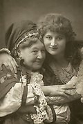 'Mary Anderson (1859-1940) American actress, pictured c1890as Juliet with Mary Anne (Fanny) Stirling (1815-1895) English actress as here Nurse, roles they played in Henry Irving's production of Shakespeare's ''Romeo and Juliet'' at the Lyceum Theatre, London, England, in 1884.'