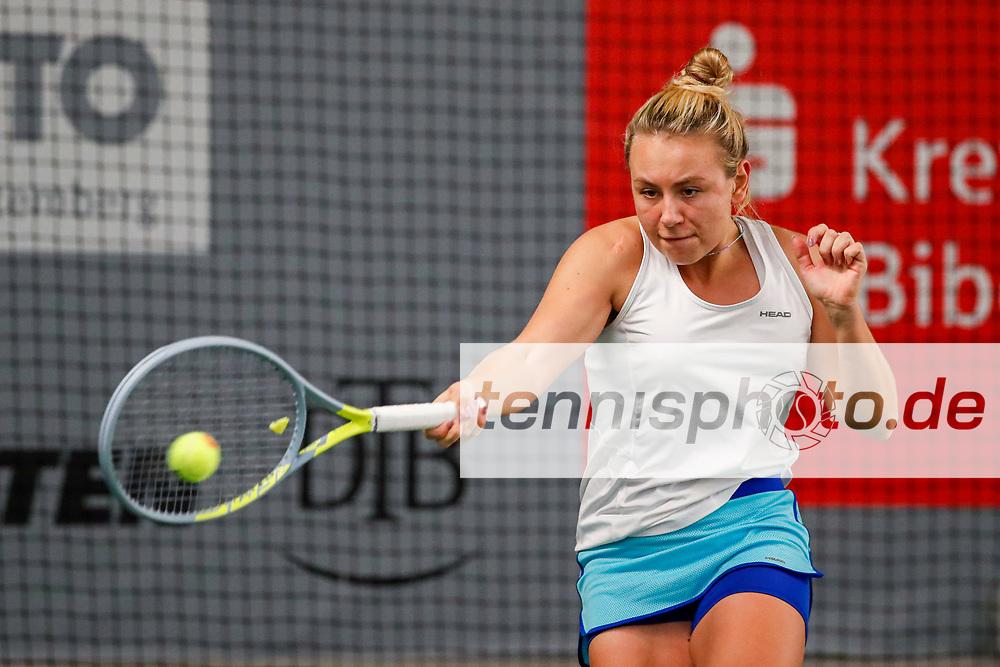 Hannah Nagel (GER) Deutsche Meisterschaften der Damen und Herren 2020 - Deutscher Tennis Bund e.V. am 7.12.2020 in Biberach (Bezirksstützpunk Biberach (WTB)), Deutschland, Foto: Mathias Schulz