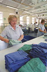 Working in the Laundry at Sheffield Northern General Hospital
