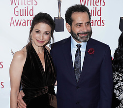Marin Hinkle and Tony Shaloub arrivals at the Writers Guild Awards 2019 in New York City, USA on February 17, 2019.