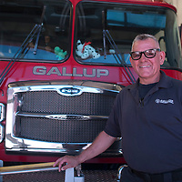 Paul Lopez poses for a portrait at the north side fire station in Gallup Thursday.