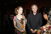 MEGAN DODDS AND ALAN RICKMAN, Vanessa Redgrave and Thelma Holt host a reception at the<br />