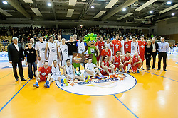 Players during Slovenian basketball All Stars Grosuplje 2013 event, on December 29, 2013 in Arena Brinje, Grosuplje, Slovenia. (Photo By Urban Urbanc / Sportida.com)
